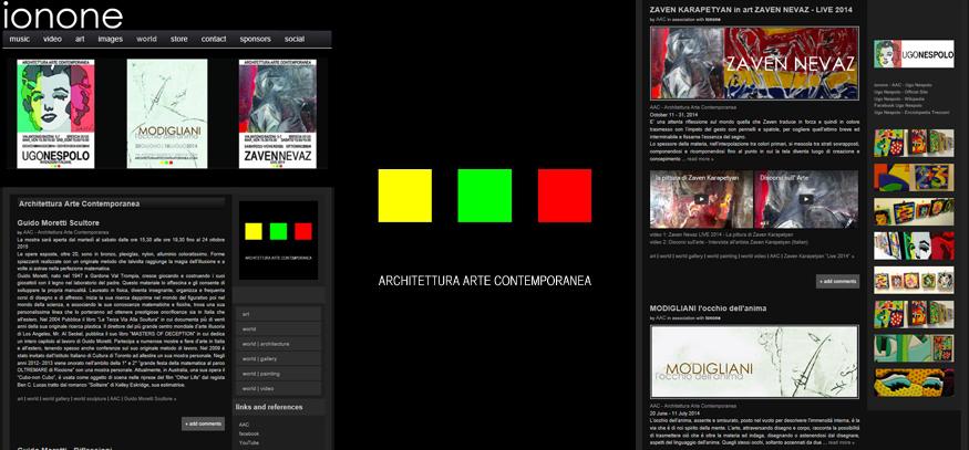 Ionone world art lo staff di architettura arte contemporanea vuole testimoniare e promuovere la cultura dellimpulso estetico ponendo uno sguardo incrociato nei vari ambiti fandeluxe Choice Image