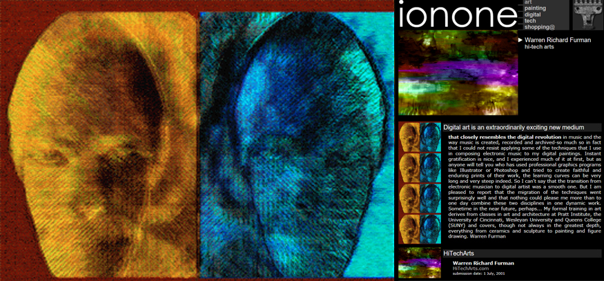 ionone world | painting | Warren Richard Furman - Hi-tech arts