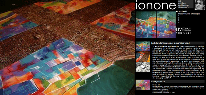 ionone world | painting | Sonia Gil - Maps of future landscapes