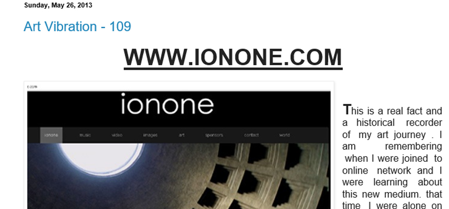 ionone world | art | Yogendra Kumar Purohit  - Art Vibration - 109