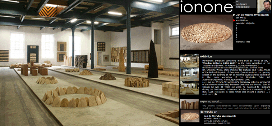 ionone world | sculpture | Jan de Weryha-Wysoczanski - Art works